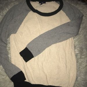 Gap color block texture sweater
